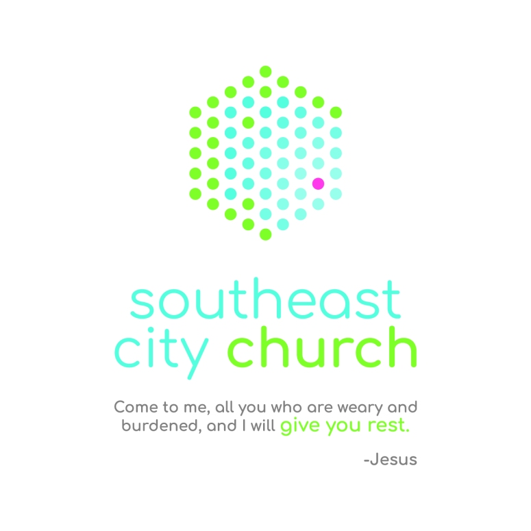 Southeast City Church Logo Stacked w Descriptor - CMYK